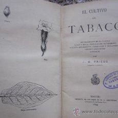 Libros antiguos: EL CULTIVO DEL TABACO - J.M. PRIEGO - MADRID IMPERENTA HERNANDEZ 1899. Lote 27629397
