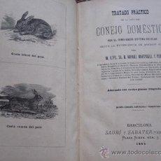 Libros antiguos: TRATADO PRACTICO DE LA CRIA DEL CONEJO DOMESTICO - MANUEL MARTORELL Y PEÑA - BARCELONA 1895. Lote 27630160