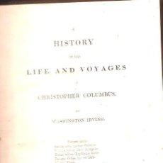 Libros antiguos: 1828,VIDA DE CRISTOBAL COLÓN,4 TOMOS,WASHINGTON IRVING,,PLANOS,B ENCUADERNACIÓN. Lote 27816286