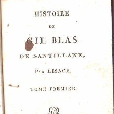 Libros antiguos: 1819,HISTORIA DE GIL BLAS DE SANTILLANA,EN FRANCÉS,PARÍS,6 TOMOS,PASTA ESPAÑOLA,PERFECTOS. Lote 27825939