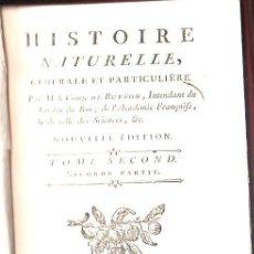 Libros antiguos: 1779,HISTORIA NATURAL DE BUFFON,SUPLEMENTO DEL TOMO II.. Lote 57474222
