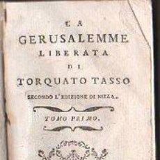 Libros antiguos: LA GERUSALEMME LIBERATA DI TORQUATO TASSO - IMPRESO POR VINCENZO MANFREDI,1742. GRABADOS!!. Lote 27875503