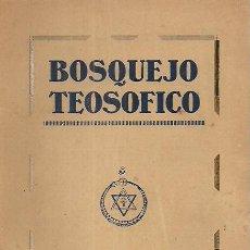 Libros antiguos: BOSQUEJO TEOSÓFICO / C.W. LEADBEATER . VERSIÓN ESPAÑOLA FEDERICO CLIMENT TERRER . ED. 1910 (CIRCA). Lote 27909957