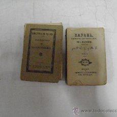 Libros antiguos: RAFAEL. DOS TOMOS. A. DE LAMARTINE IMPRENTA DE MARTÍNEZ, C. 1890. RM34943. Lote 27941926