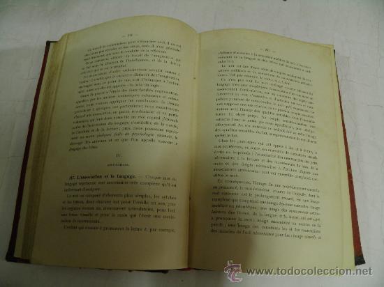 Libros antiguos: Cours de Philosophie. Volume III. Psychologie. D. MERCIER 1908 RM35385 - Foto 4 - 27935258