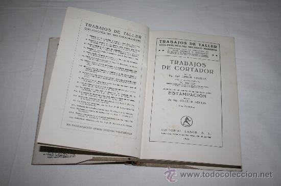 Libros antiguos: 1415- CURIOSO LIBRO ' TRABAJOS DE TALLER ( TRABAJOS DE CORTADOR), POR ERICH KRABBE; AÑO 1944 - Foto 2 - 27998867