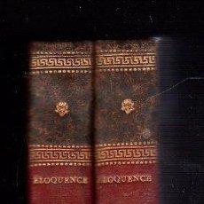 Libros antiguos: 1818,ELOCUENCIA MILITAR,DOS TOMOS,PARÍS,RARA OBRA,NAPOLEÓN,EX-LIBRIS,BONITA ENCUADERNACIÓN. Lote 188428967