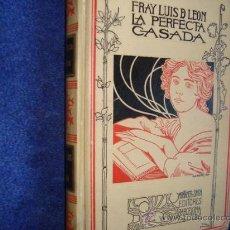 Livros antigos: FRAY LUIS DE LEON, LA PERFECTA CASADA, MONTANER SIMON. Lote 28196553