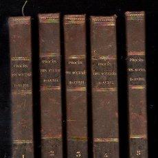 Libros antiguos: 1835,PROCESO DE LOS ACUSADOS DE ABRIL,5 TOMOS,EN FRANCÉS,PARÍS,RARA OBRA DE ÉPOCA. Lote 188430166