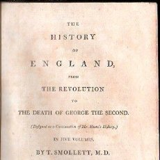 Libros antiguos: 1800,HISTORIA DE INGLATERRA Y DE SU REVOLUCIÓN,MUERTE DE JORGE II,EN INGLÉS,5 TOMOS,BUENA OBRA. Lote 28133408