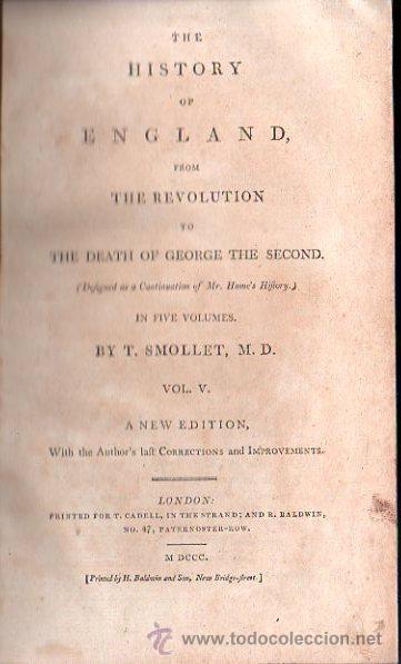 Libros antiguos: 1800,Historia de Inglaterra y de su Revolución,Muerte de Jorge II,en inglés,5 tomos,buena obra - Foto 6 - 28133408