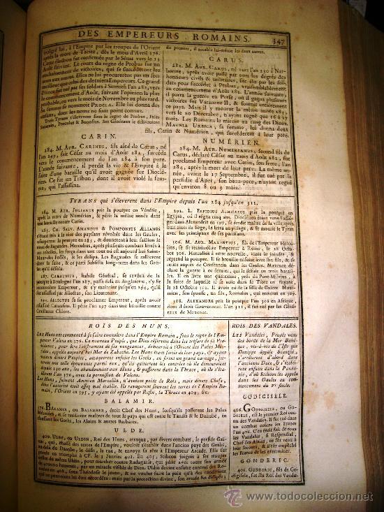 Libros antiguos: 1770,Arte de Verificar los Datos,tanto Históricos,Monumentos,París,Excepcional!!!,Gran Tamaño!!!! - Foto 5 - 28133198
