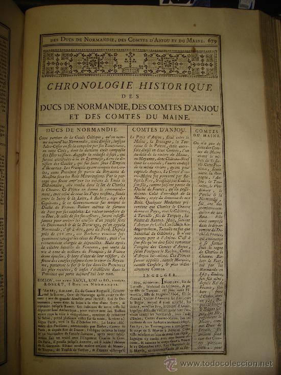 Libros antiguos: 1770,Arte de Verificar los Datos,tanto Históricos,Monumentos,París,Excepcional!!!,Gran Tamaño!!!! - Foto 6 - 28133198