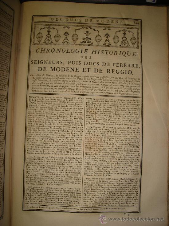 Libros antiguos: 1770,Arte de Verificar los Datos,tanto Históricos,Monumentos,París,Excepcional!!!,Gran Tamaño!!!! - Foto 7 - 28133198