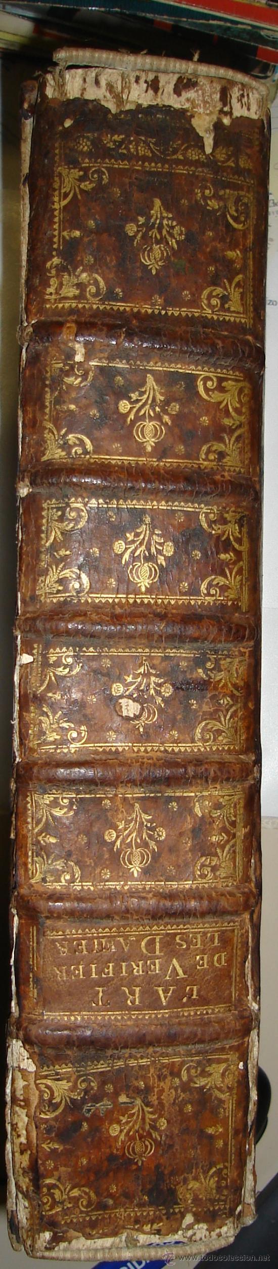 Libros antiguos: 1770,Arte de Verificar los Datos,tanto Históricos,Monumentos,París,Excepcional!!!,Gran Tamaño!!!! - Foto 3 - 28133198
