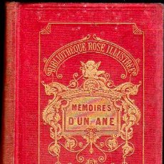 Libros antiguos: MEMOIRES D`UN ANE. BIBLIOTHEQUE ROSE ILLUSTREE. HACHATTE ET CIE.. Lote 28217089
