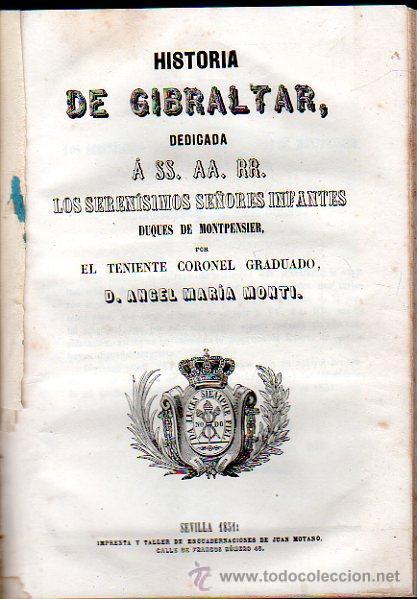 Libros antiguos: HISTORIA DE MERIDA 119 PAG Y 4 LAMINAS DESPLEGABLES.HISTORIA DE GIBRALTAR 216 PAGINAS. . - Foto 5 - 28217490