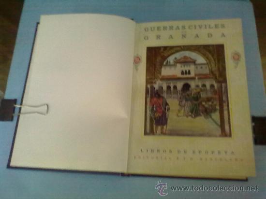 GUERRA DE GRANADA G.P. DE HITA. EDITORIAL F.T.D. BARCELONA.1925.REENCUADERNAT (Libros Antiguos, Raros y Curiosos - Historia - Otros)