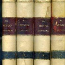 Libros antiguos: EL MUNDO CIENTÍFICO - 194 NÚMEROS AÑOS 1899 A 1903 - CUATRO TOMOS. Lote 28341841