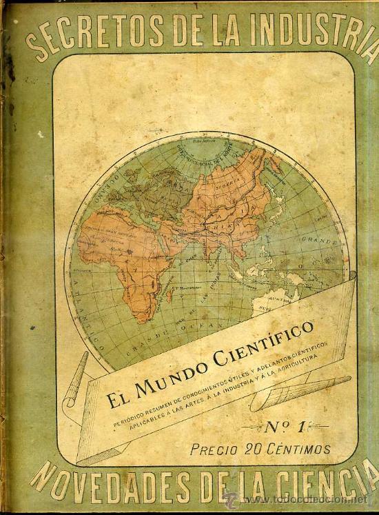 Libros antiguos: EL MUNDO CIENTÍFICO - 194 NÚMEROS AÑOS 1899 A 1903 - CUATRO TOMOS - Foto 10 - 28341841