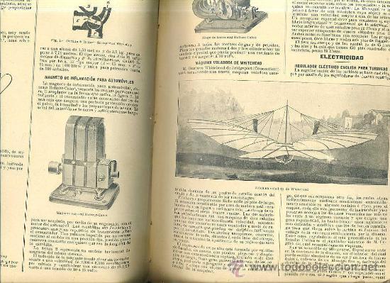 Libros antiguos: EL MUNDO CIENTÍFICO - 194 NÚMEROS AÑOS 1899 A 1903 - CUATRO TOMOS - Foto 4 - 28341841