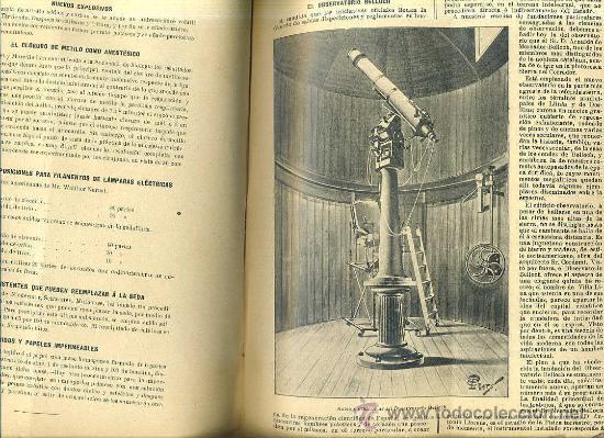 Libros antiguos: EL MUNDO CIENTÍFICO - 194 NÚMEROS AÑOS 1899 A 1903 - CUATRO TOMOS - Foto 7 - 28341841