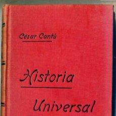 Libros antiguos: CÉSAR CANTÚ : HISTORIA UNIVERSAL TOMO IX - ROMA 4 D.C. A 323 D.C.. Lote 28674808