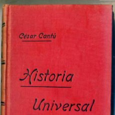 Libros antiguos: CÉSAR CANTÚ : HISTORIA UNIVERSAL TOMO X - ROMA 4 D.C. A 323 D.C.. Lote 28674818
