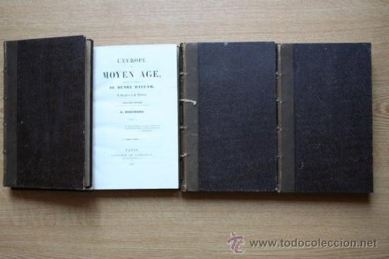 L'EUROPE AU MOYEN AGE, TRADUIT DE L'ANGLAIS DE... HALLAM (HENRY) (Libros Antiguos, Raros y Curiosos - Historia - Otros)
