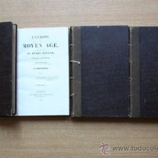Libros antiguos: L'EUROPE AU MOYEN AGE, TRADUIT DE L'ANGLAIS DE... HALLAM (HENRY). Lote 28749308