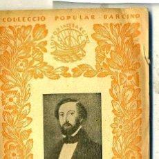 Libros antiguos: A. DE MUSSET : DUES COMEDIES (1929) - COL. BARCINO. EN CATALÁN. Lote 28763402