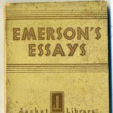 Libros antiguos: EMERSON'S ESSAYS (1932). Lote 28773683