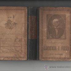 Libros antiguos: CAYETANO VIDAL DE VALENCIANO ELOCUENCIA Y POESIAS CASTELLANAS BARCELONA 1898. Lote 28790361