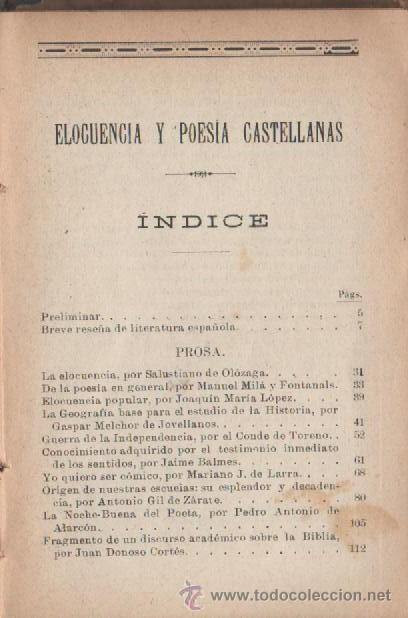 Libros antiguos: cayetano vidal de valenciano elocuencia y poesias castellanas barcelona 1898 - Foto 2 - 28790361