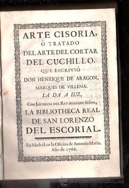 Arte cisoria o tratado del arte de cortar del c comprar en todocoleccion 28870598 - Libros antiguos mas buscados ...