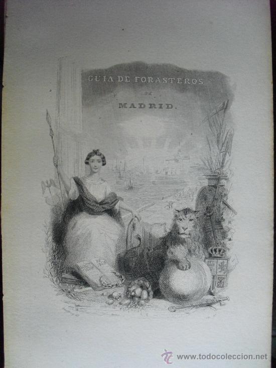 GUIA DE FORASTEROS DE MADRID PARA EL AÑO DE 1869 (Libros Antiguos, Raros y Curiosos - Ciencias, Manuales y Oficios - Otros)