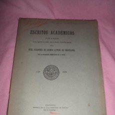 Libros antiguos: ESCRITOS ACADEMICOS·REAL ACADEMIA DE BUENAS LETRAS DE BARCELONA - AÑO 1930.. Lote 29039835