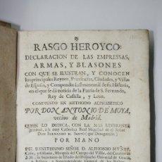 Libros antiguos: LIBRO ANTIGUO 1756.DECLARACION ARMAS Y BLASONES PRINCIPALES REYNOS,PROVINCIAS Y CIUDADES DE ESPAÑA. . Lote 29085966