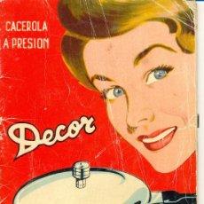 Libros antiguos: LIBRO DECOR CACEROLAS A PRESION. Lote 29155898