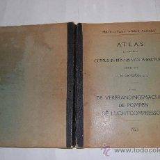 Libros antiguos: ATLAS BEHOORENDE BIJ CURSUS IN KENNIS VAN WERKTUIGEN. H. C. GROSJEAN RM31388. Lote 29204303
