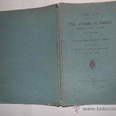 Libros antiguos: DISCURSO LEÍDO ANTE LA REAL ACADEMIA DE CIENCIAS EXACTAS, FÍSICAS Y NATURALES 1915 RM31201. Lote 29219126