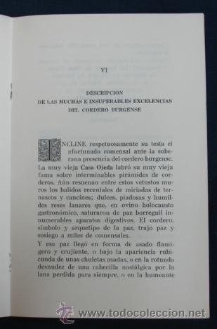 Libros antiguos: OPUSCULO DE AMENAS Y SUSTANCIOSAS REFLEXIONES SOBRE EL ARTE DE BIEN MANDUCAR. REST. CASA OJEDA. - Foto 5 - 29384803