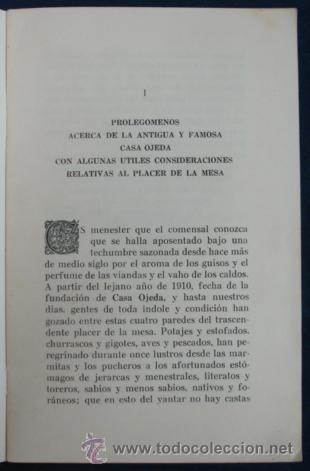 Libros antiguos: OPUSCULO DE AMENAS Y SUSTANCIOSAS REFLEXIONES SOBRE EL ARTE DE BIEN MANDUCAR. REST. CASA OJEDA. - Foto 2 - 29384803