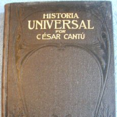Libros antiguos: CESAR CANTU. HISTORIA UNIVERSAL - TOMO III - F. SEIX, EDITOR. 1901.. Lote 29392813