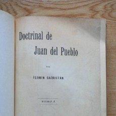 Libros antiguos: DOCTRINAL DE JUAN DEL PUEBLO. SACRISTÁN (FERMÍN). Lote 29452334