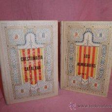 Libros antiguos: LOS ALMOGAVERS + CRESTOMATIA CATALANA - BIBLIOTECA CLASICA CATALANA AÑO 1906.. Lote 29483264