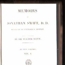 Libros antiguos: MEMOIRS OF JONATHAN SWIFT, D.D POR SIR WALTER SCOTT. 2 VOLUMENES - A. AND W.GALIGNANI, PARIS 1826. Lote 29494583