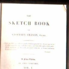 Libros antiguos: THE SKETCH BOOK POR GEOFFREY CRAYON. 2 VOLUMENES - A. AND W. GALIGNANI, PARIS 1825. Lote 29494596