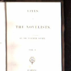 Libros antiguos: LIVES OF THE NOVELISTS POR SIR WALTER SCOTT. 2 VOLUMENES - A. AND W. GALIGNANI, PARIS 1825. Lote 29494603