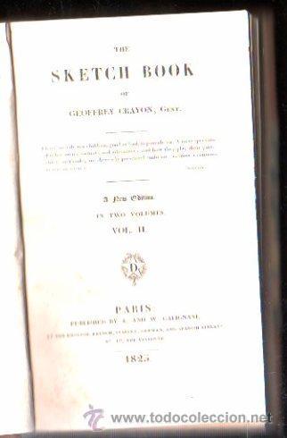 Libros antiguos: THE SKETCH BOOK POR GEOFFREY CRAYON. 2 VOLUMENES - A. AND W. GALIGNANI, PARIS 1825 - Foto 4 - 29494596